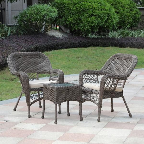 Pe Wicker: Shop 3-Pc PE Rattan Wicker Outdoor Patio Furniture Set,Tan