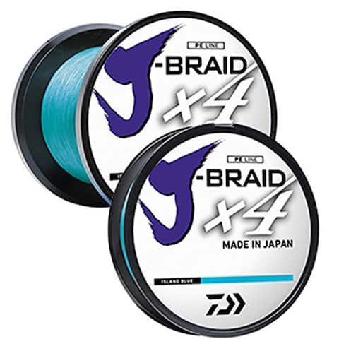 Daiwa J-Braid X4 300 Yard Spool 80LB Test - Island Blue