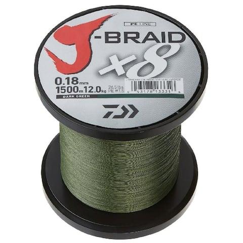 Daiwa J-Braid X4 3000 Yard Spool 30LB Test - Dark Green