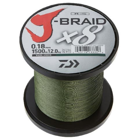 Daiwa J-Braid X4 300 Yard Spool 30LB Test