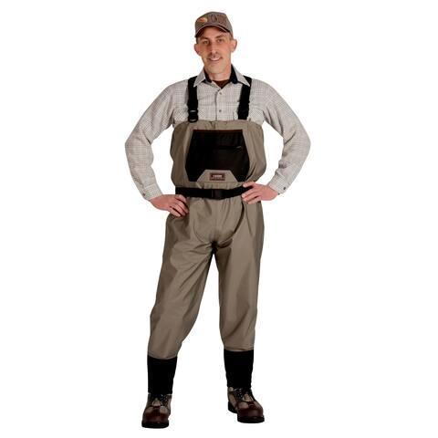 Caddis Men's Breathable Stockingfoot Waders - Xlarge Tan