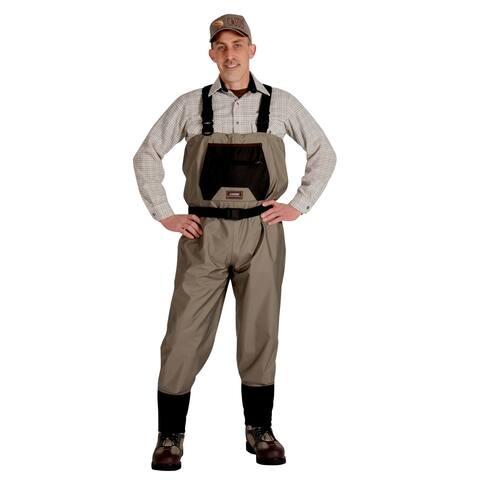Caddis Men's Breathable Stockingfoot Waders - M Stout Tan