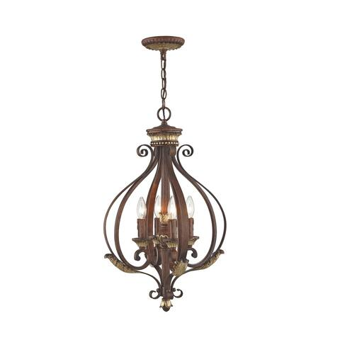 Livex Lighting Villa Verona 4-Light Verona Bronze Foyer Lantern