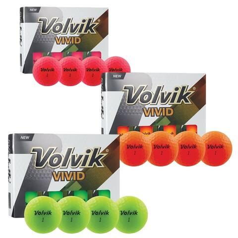 Volvik Vivid 3 Pc Golf Balls - Matte