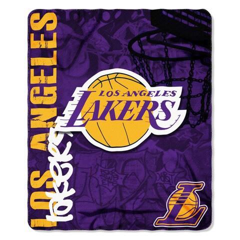 Los Angeles Lakers Fade Away Fleece Throw