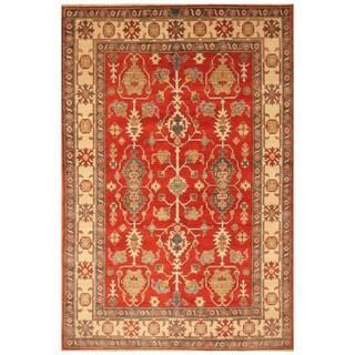 Handmade Kazak Wool Rug (Afghanistan) - 6'7 x 9'