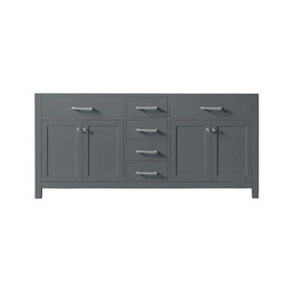 "Exclusive Heritage 72"" Double Sink Bathroom Vanity Base in Cashmere Grey from the Colette Collection"