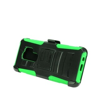 Insten For Samsung Galaxy S9 Plus Green Advanced Armor Hard Hybrid Case w/stand Holster