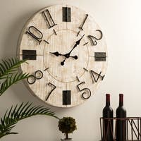 Glitzhome Farmhouse Wall Clock