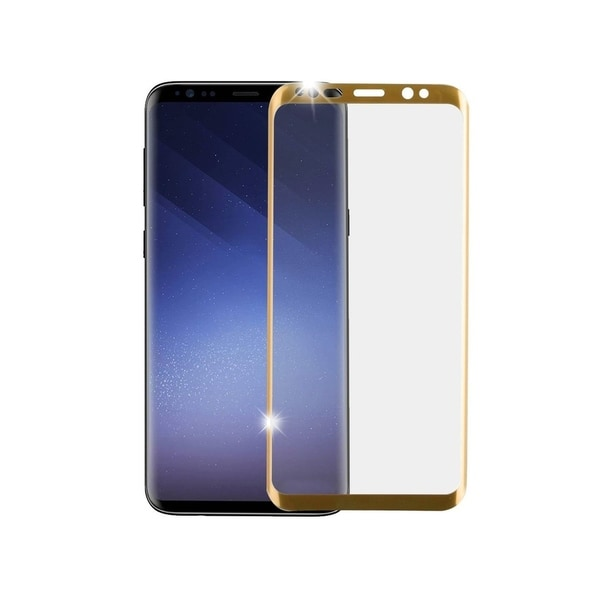 Insten Full Coverage Tempered Glass Screen Protector LCD Film Guard Shield for Samsung Galaxy S9 Plus S9+, Gold. Opens flyout.