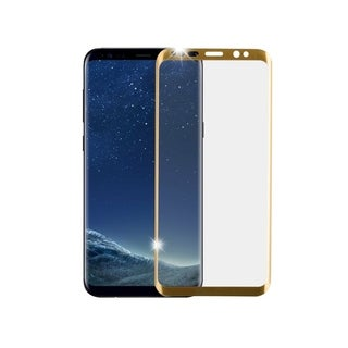 Insten Full Coverage Tempered Glass Screen Protector LCD Film Guard Shield for Samsung Galaxy S9, Gold