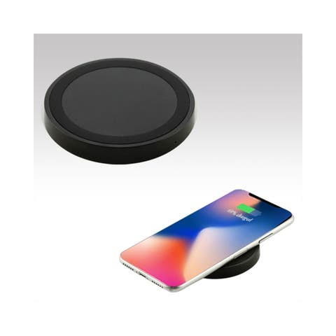 Insten Slim Fast Qi Wireless Charging Pad with Anti-Slip Base for Apple iPhone XS Max XR Galaxy S9 Plus Qi-Enabled Devices