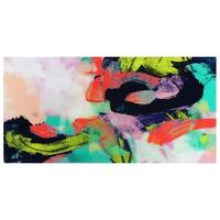 """Colorful""Frameless Free Floating Tempered Art Glass Wall Art by EAD Art Coop - Multi-color"