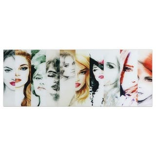 """""""Female""""Frameless Free Floating Tempered Art Glass Wall Art by EAD Art Coop - Multi-color"""