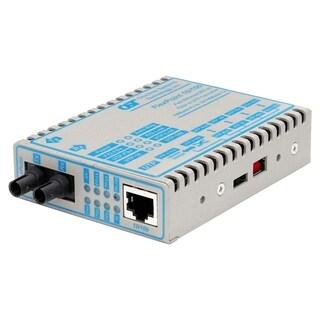 FlexPoint 10/100 Ethernet Fiber Media Converter RJ45 ST Multimode 5km