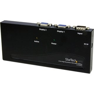 StarTech.com 2 Port High Resolution VGA Video Splitter - 350 MHz