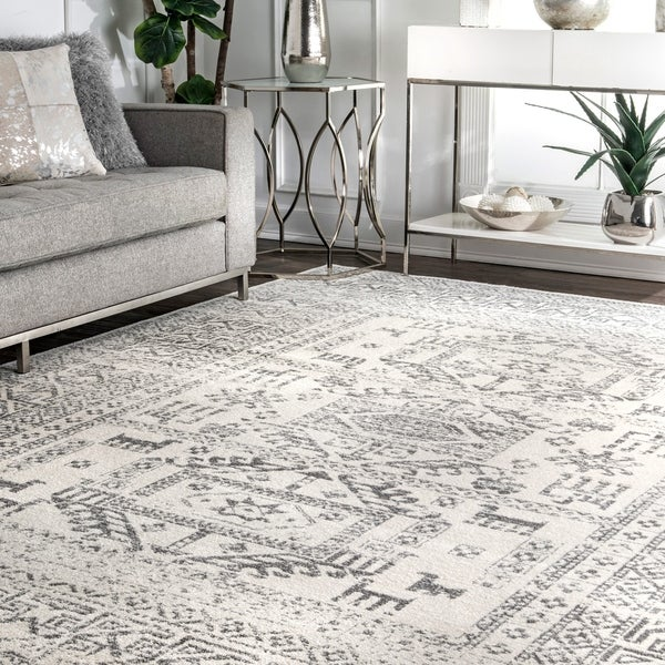 The Curated Nomad Farnsworth Grey Southwestern Bohemian Area Rug - 9' x 12'