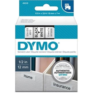 Dymo D1 Electronic Tape Cartridge|https://ak1.ostkcdn.com/images/products/2639463/Dymo-Black-on-White-D1-Label-Tape-P10844936.jpg?impolicy=medium