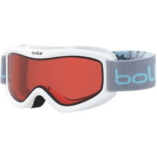 Bolle Amp Kids' Snow Goggles (White Caribou Frame/Vermillion Red Lens)