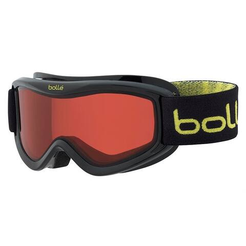 Bolle Amp Kids' Snow Goggles (Black Caribou Frame/Vermillion Red Lens)