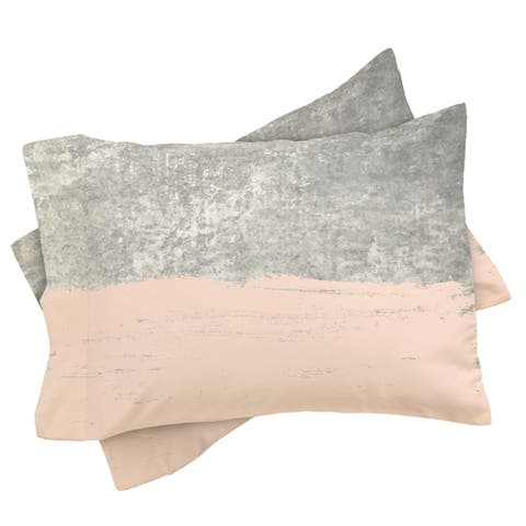 Deny Designs Pink and Grey Pillow Shams