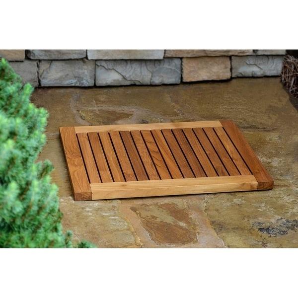 Teak Indoor/Outdoor Shower Mat - 21 x 34
