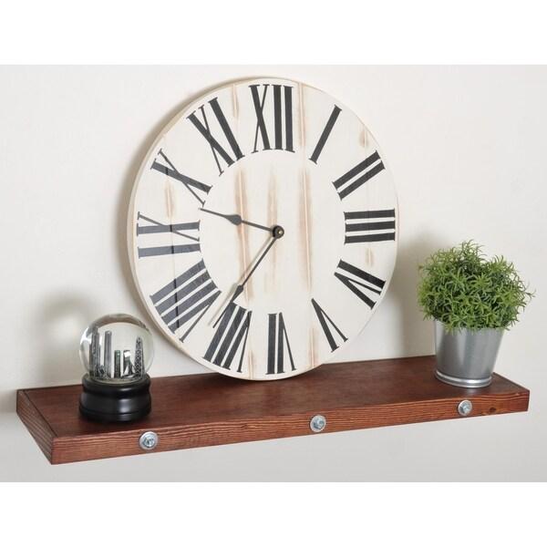 Shop Set 18 Inch Farmhouse Clock And Dark Brown 30in