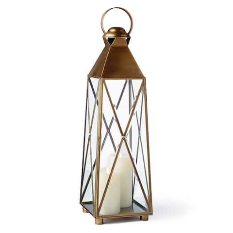 Imperial 33.5 inch Lantern Antique Brass