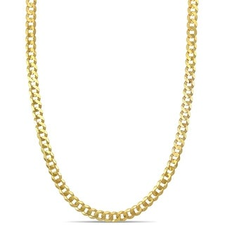 Link to Miadora 10k Yellow Gold 24-Inch Men's Flat Curb Link Chain Necklace Similar Items in Men's Jewelry