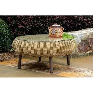Tortuga Outdoor Round Indoor/Outdoor Wicker Coffee Table