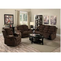 Shop Corliving Lea 3pc Chenille Fabric Reclining Sofa Set Free Shipping Today Overstock 16899453