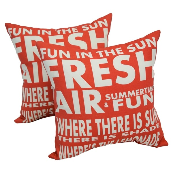 Solarium Fun In The Sun 17 Inch Indoor Outdoor Throw Pillows Set Of 4