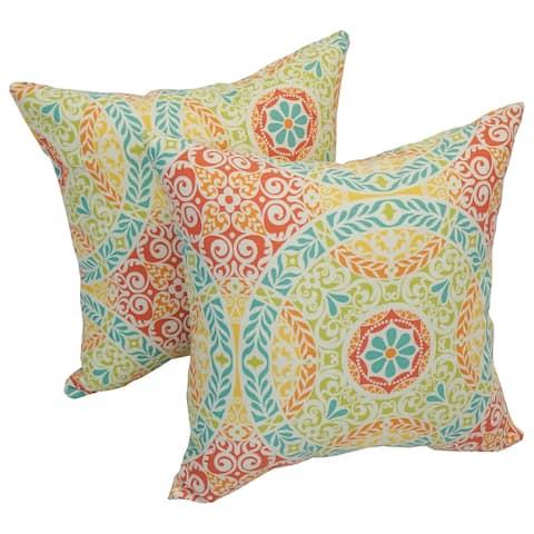 Solarium Crescent Spring 17-inch Indoor/Outdoor Throw Pillows (Set of 4)