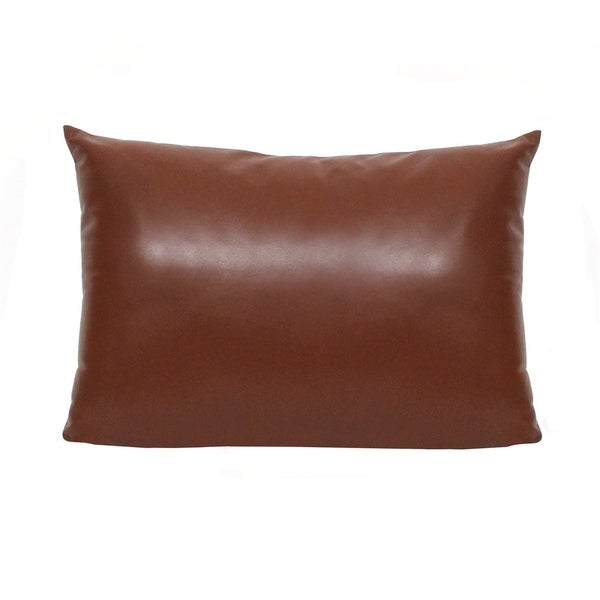 Carbon Loft Wolford Faux Leather Lumbar Throw Pillow