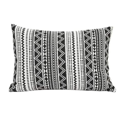 The Curated Nomad Eureka Tribal Stripe Lumbar Throw Pillow
