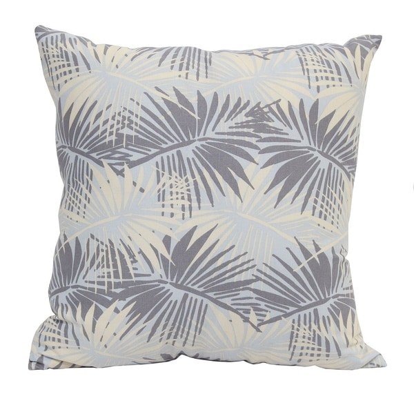 Stratton Home Decor Tropical Palm 18 Inch Decorative Throw Pillow