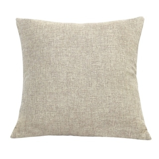 Stratton Home Decor Tweed 18 Inch Decorative Throw Pillow
