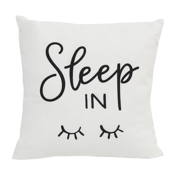 Stratton Home Decor Sleep In 18 Inch Throw Pillow