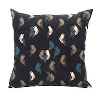 Stratton Home Decor Aviary Corduroy 18 Inch Decorative Throw Pillow