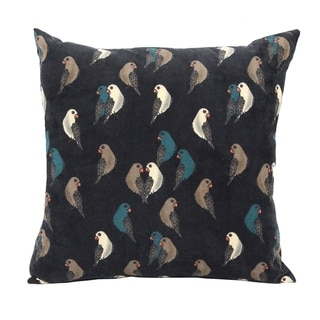 Stratton Home Decor Aviary Corduroy 18 Inch Decorative Throw Pillow
