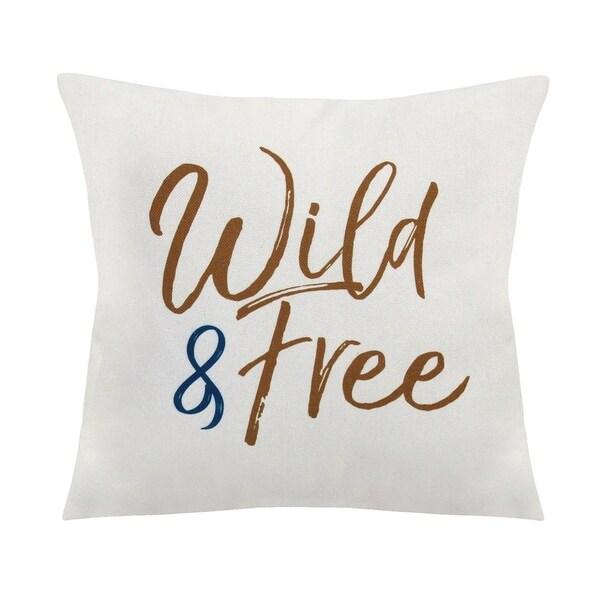 Stratton Home Decor Wild & Free 18 Inch Throw Pillow