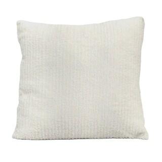 Stratton Home Decor Faux Fur 18 Inch Throw Pillow