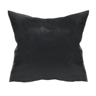Stratton Home Decor Faux Leather 18 Inch Throw Pillow