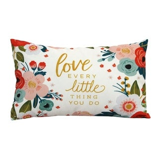 Stratton Home Decor Love Every Lumbar Throw Pillow