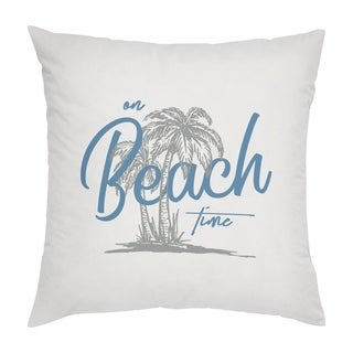 Porch & Den Lepley 'On Beach Time' 18-inch Throw Pillow