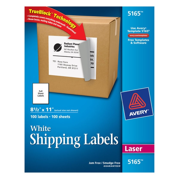Avery dennison 5165 mailing labels box of 100 free shipping avery dennison 5165 mailing labels box of 100 saigontimesfo