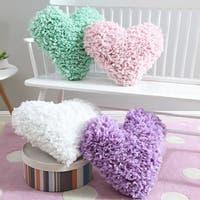 Taylor & Olive Pebley Heart Paper Shag Decorative Pillow
