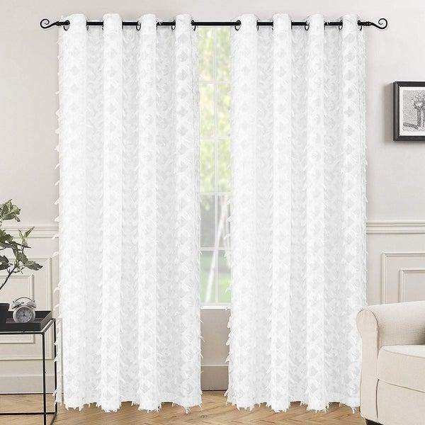 Shop Drift Away White Voile Grommet Semi Sheer Curtain