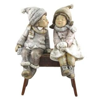"Set of 2 ""Sit and Kiss"" Christmas Tushkas with Hanging Legs"