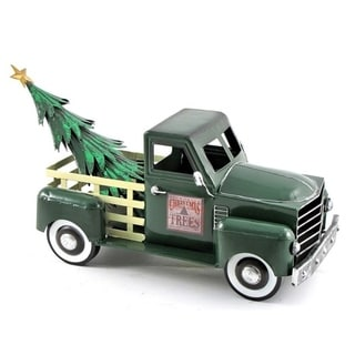 Small Truck with Christmas Tree in Green